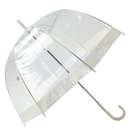 Willow Tree Clear Birdcage White Border Umbrella