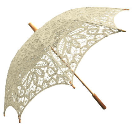 Willow Tree Ivory Lace Wedding Parasol