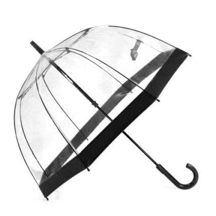 Clifton PVC Clear Birdcage Black Border Umbrella