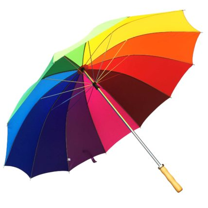 Willow Tree Large 12 Rib Rainbow Golf Umbrella