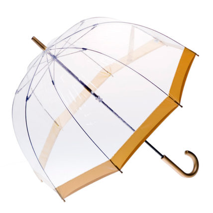 Clifton PVC Clear Birdcage Gold Border Umbrella