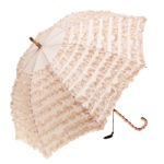 Clifton FIFI Fashion Frills Bamboo Look Beige Umbrella
