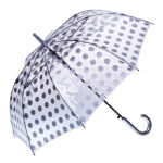 Clifton Auto Open PVC Silver Spots Umbrella