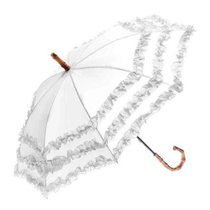 Clifton Childrens FIFI Bambina Frill White Umbrella