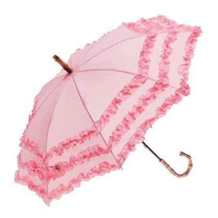 Clifton Childrens FIFI Bambina Frill Pink Umbrella