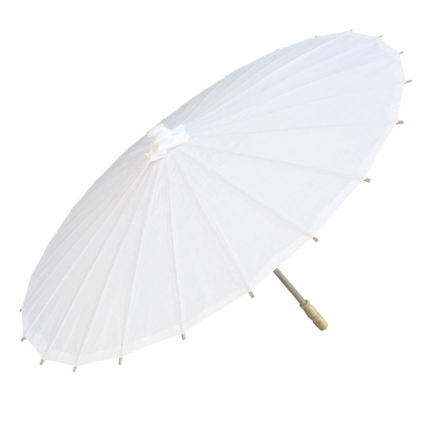 Paper Parasol White Side