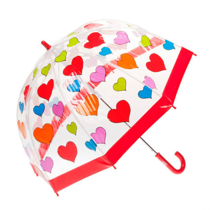 Childrens Birdcage PVC Hearts Umbrella