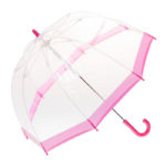 Childrens Birdcage Pink Border Umbrella