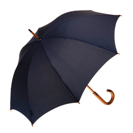 Clifton Classic Timber Ink Navy Umbrella