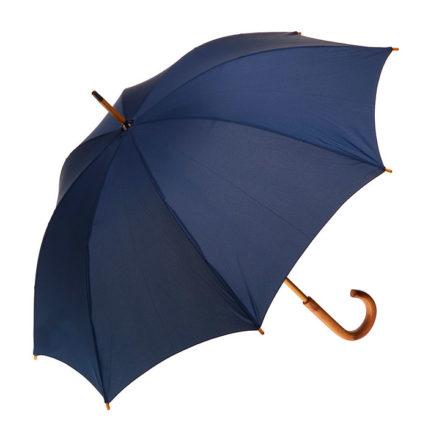 Clifton Classic Timber Navy Umbrella