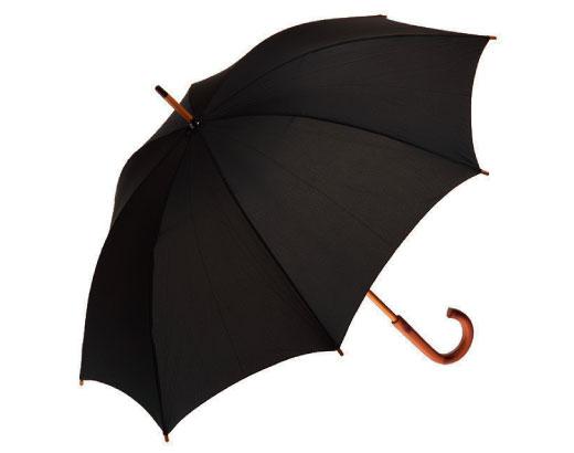 Clifton Classic Timber Black Umbrella