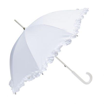 Clifton Single Frill Bridal Parasol Side